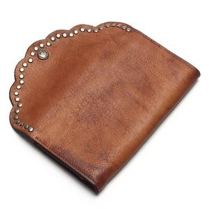 Image 2 - TAUREN Brush Color Clutch Anchor Nail Genuine Leather Women Wallets Purse Long Design High Capacity Cell Phone Pocket Coin Purse