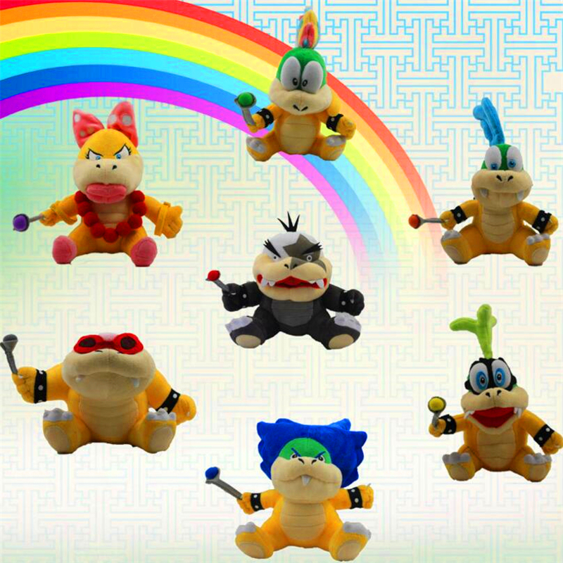 Newest 7pcs/lot Super mario bros Bowser Turtles Baby Toys