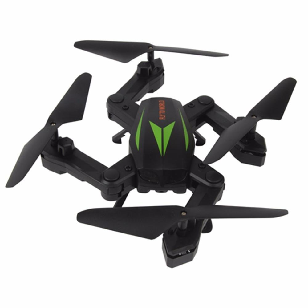 Drone RC quadrirotor F12W 2.4G maintien d'altitude 6 axes caméra HD 200 W WIFI FPV Selfie pliable Nacome-vert foncé