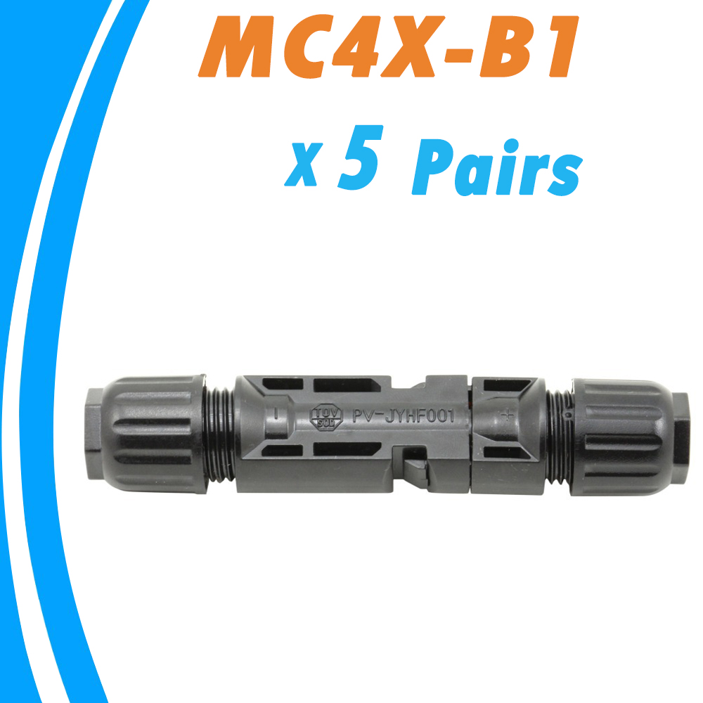 5 Pairs Male and Female MC4 Solar Panel Connector used for Solar Cable Suitable  Cable Cross Sections 2.5mm2~6.0mm2  MC4X-B1 mc4 male female f m set in line fuse cable connector 3 10a use for solar panel
