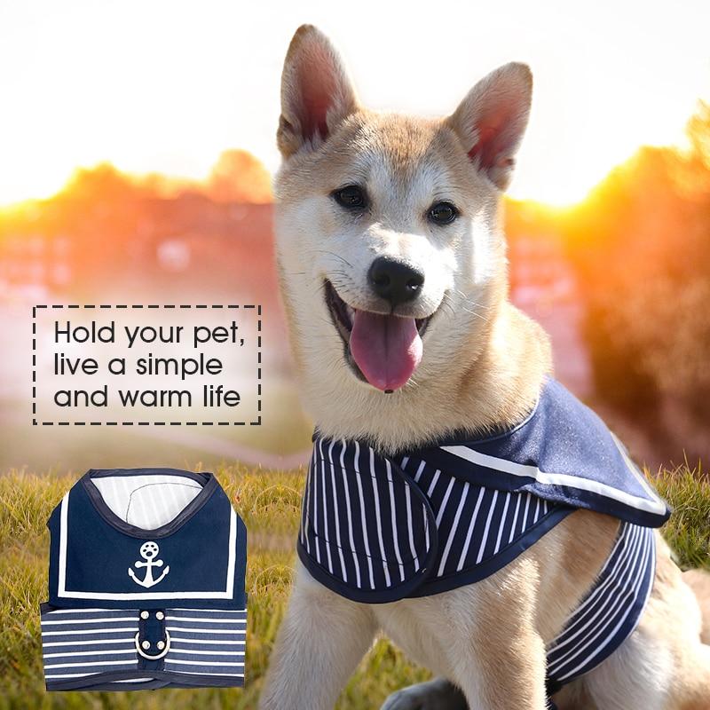 Retro Style Pet Hunde Harness Kat Krave Tøj Navy Dog Vest Harness - Pet produkter - Foto 5
