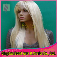 #613 Blonde 100% Indian Virgin Remy Hair Silky Straight Full Lace Wig Quality Human Remy Hair Lady's Full Lace Wig