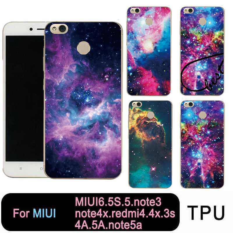 QMSWEI Clear Phone Case For Mi 6 5 5s note3 Redmi note3 note4x 4x 3s 4a 5a note5a TPU Soft Starry Star Sky Cover Free shipping