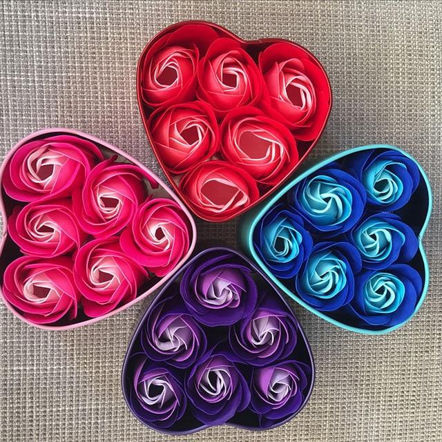 4 Farben Neue Freundin Valentinstag Geschenk Box Blume Handwerk Herz