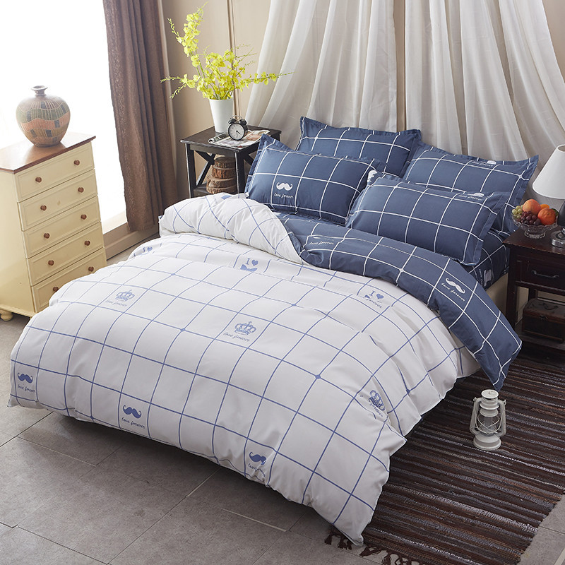 Comfortable, Breathable, Soft Washed Cotton 4pcs Bedding Sets, Duvet Cover Twin Queen King Size, Quilt Cover BedSheet Pillowcase