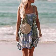 ee7674a27 Boho Inspired jade floral print STRAPPY MINI DRESS low back Spring summer  2019 women dress chic causal beach dress Vestidos