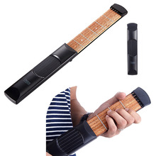 Portable Pocket Acoustic Guitar Practice Tool Parts Gadget Chord Trainer 6 String 4 Fret / Model for Beginner/Kids