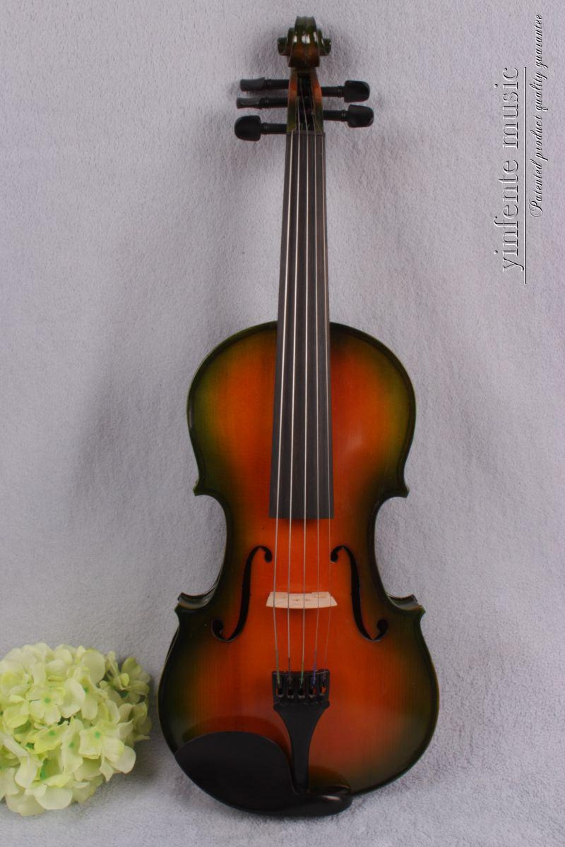 4/4 New 5 string Electric Acoustic Violin Solid Wood Nice Sound red  color 6-11# 4 4 5 string new violin neck man head hand carve high quality 1 2