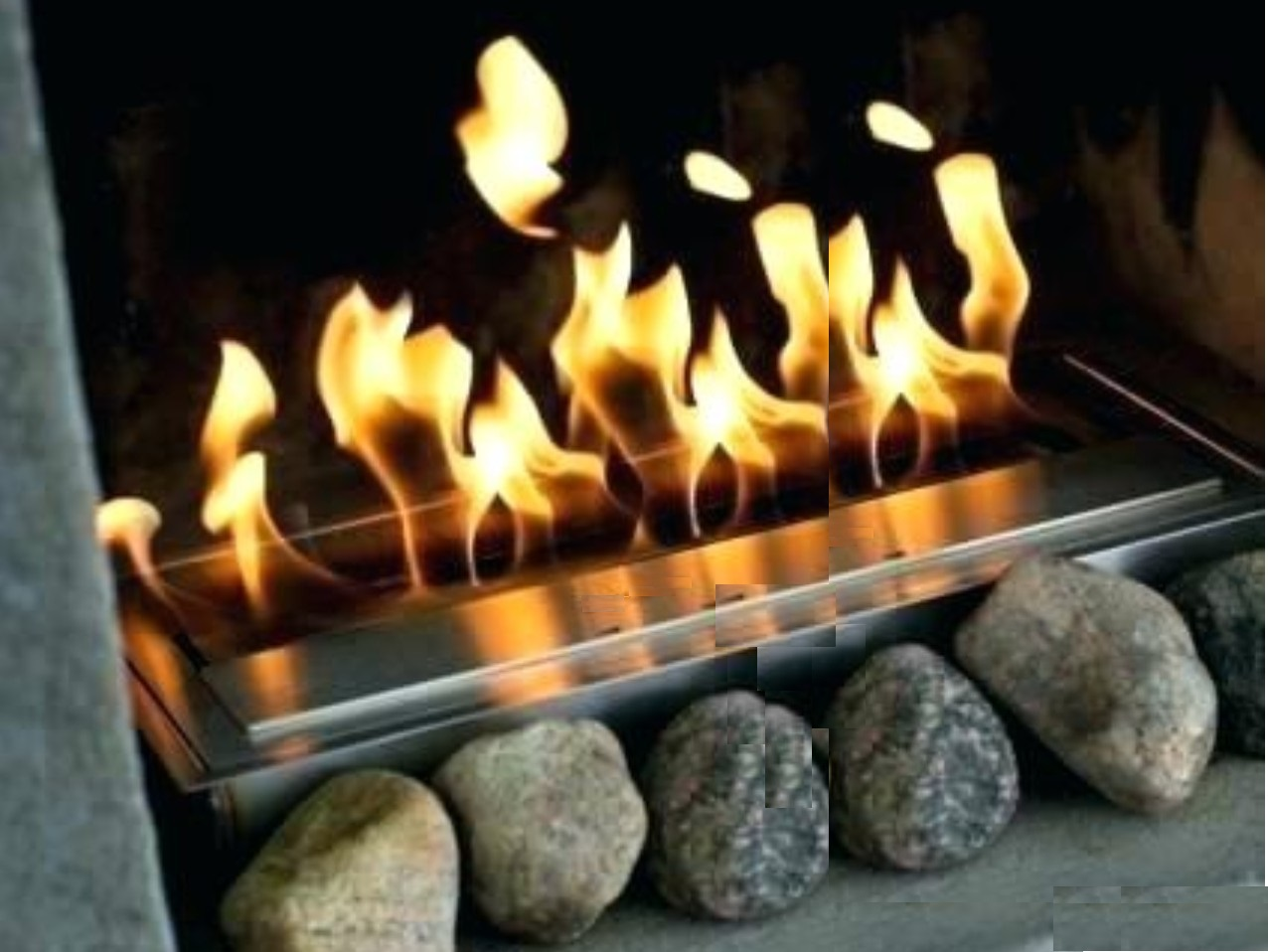 Inno Living Fire 48inch 120CM   Stainless Steel Free Shipping Biofireplaces