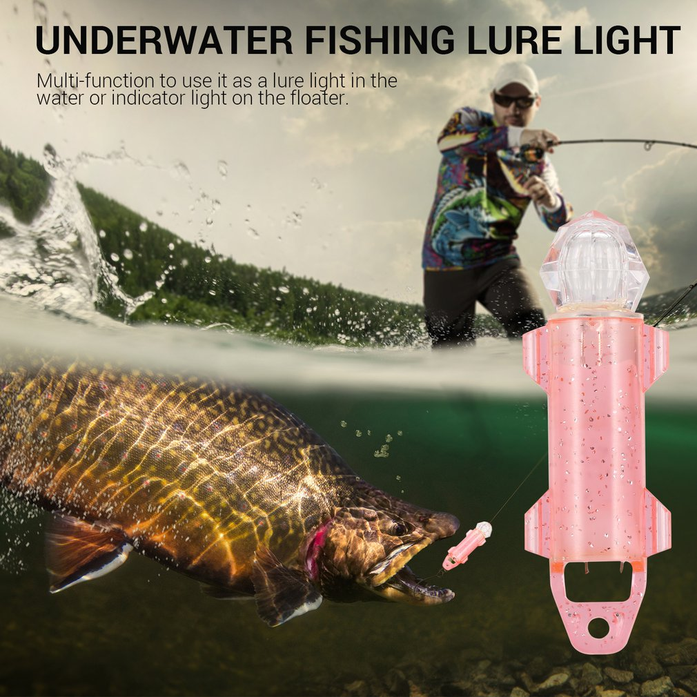 Underwater Deep Drop LED Fish Attracting Indicator Lure LED Light Bait Fishing