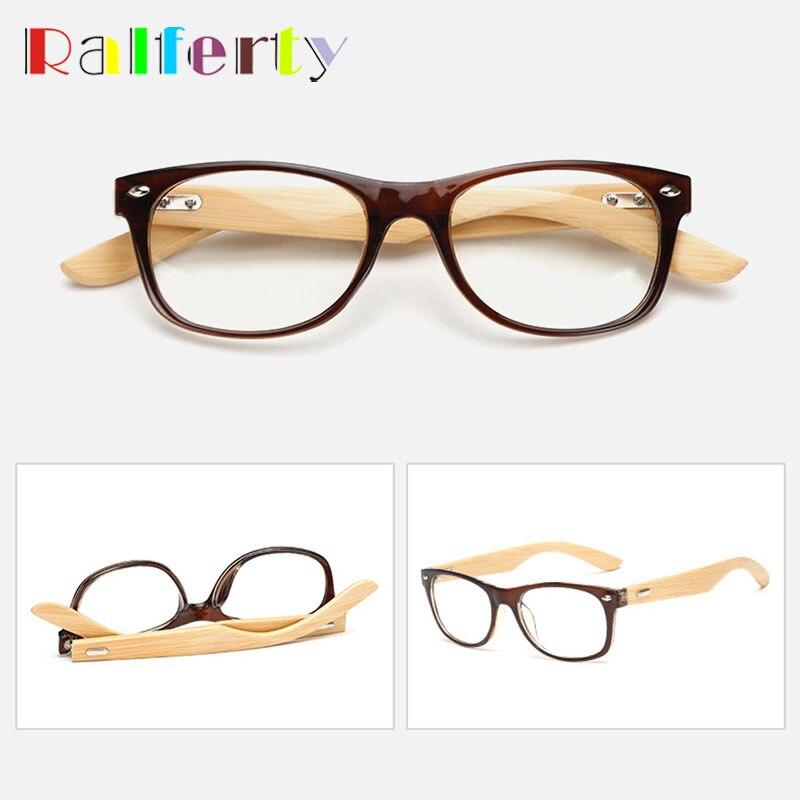40fc16178d4 Ralferty Vintage Retro Glasses Frame For Women Men Small Eyewear Gold Wood  Glasses Bamboo Temple Eyeglasses Optical Frames 1525-in Eyewear Frames from  ...