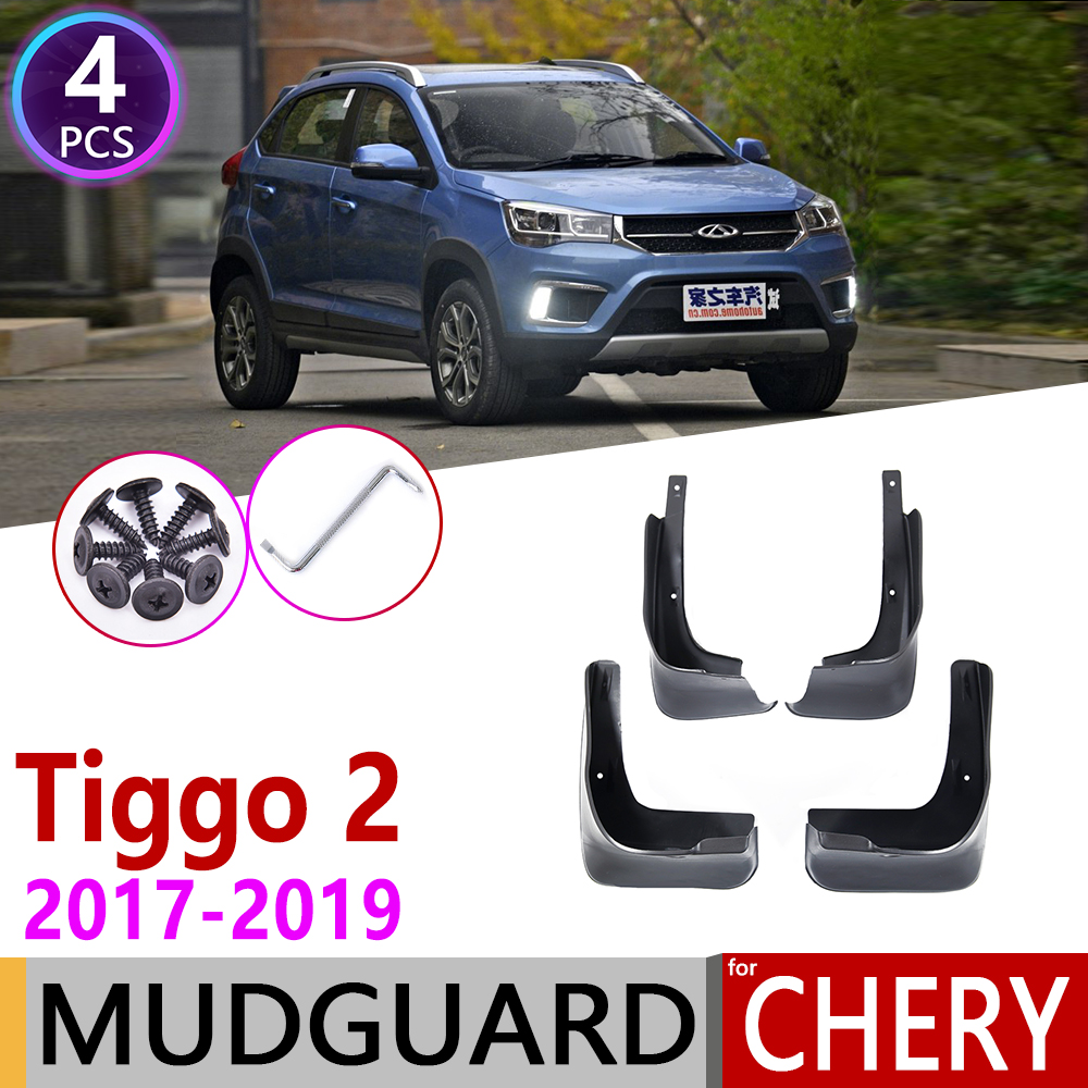 4PCS For Chery Tiggo 2 3X 2017 2018 2019 Front Rear Car Mudflap Fender Mud Flaps Guard Splash Flap Mudguards Accessories