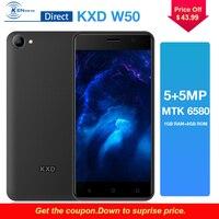 Black/Gold/Red KXD W50 3G 5.0 MTK6580 1GB+8GB Quad Core Andriod6.0 5MP+5MP Dual Camera Dual Sim Card 2100mAh Battery Smartphone