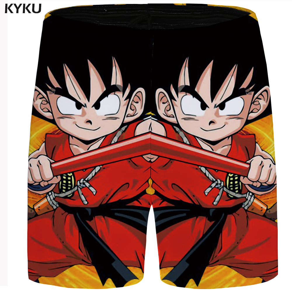 KYKU Dragon Ball Short Men Goku Short Animal Casual Shorts Hawaii Beach Shorts Cargo Character Mens Shorts Summer Plus Size 2018