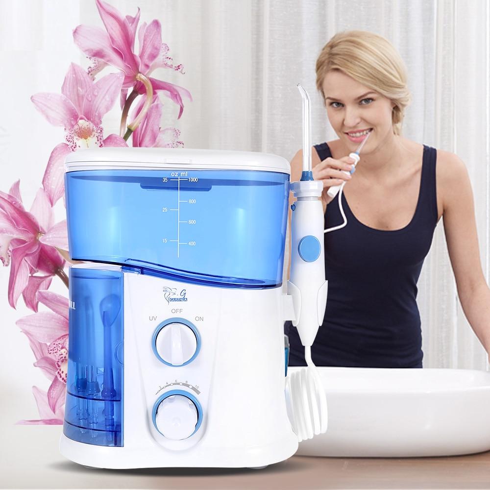 Gustala 1000ml Dental Flosser Portable Water Oral Floss Dental Irrigator Floss Dental Teeth Care Oral Hygiene Irrigation Set