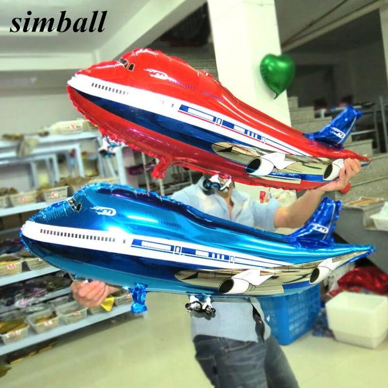 Большие воздушные шары из фольги в форме самолета, 82x42 см, воздушные шары из майлара в форме самолета для мальчиков, игрушки для будущей мамы,...