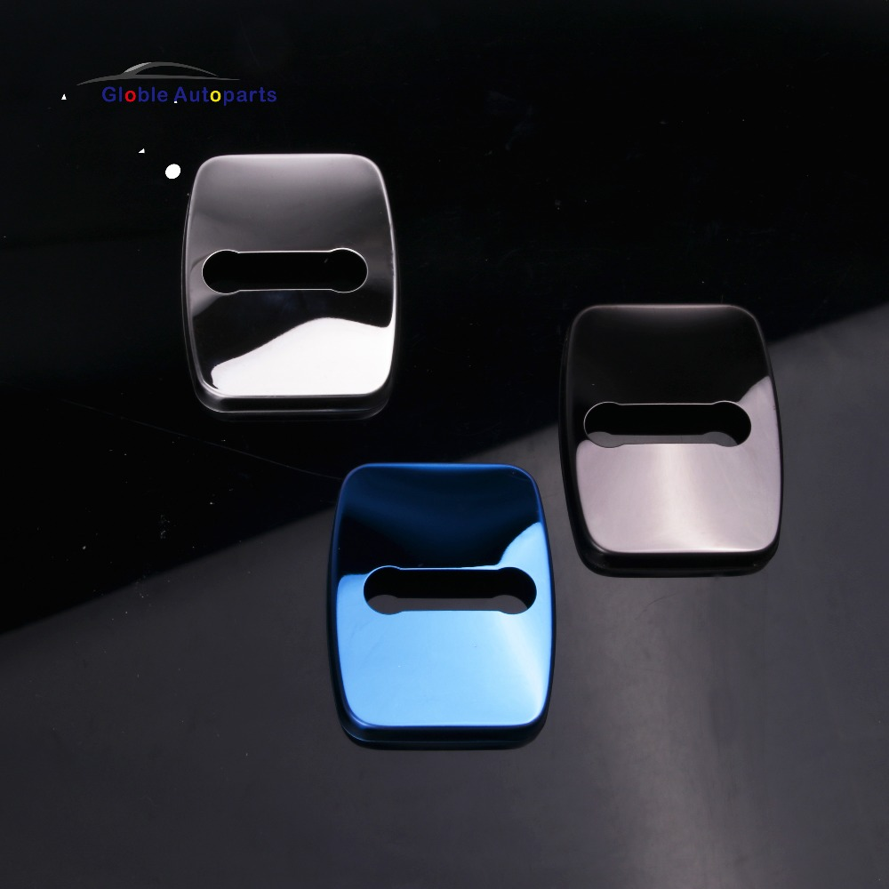 4pcs Car Door Lock Buckle Protective Cover For BMW M X1 X3 X5 X6 I3 I8 7 E46 E39 E90 E36 E60 E34 E30 F30 Jcc-9