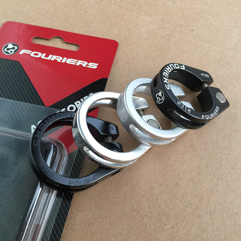 Alloy Quick Release Bicycle Seat Post Clamp Collar 34.9mm  Black or Silver