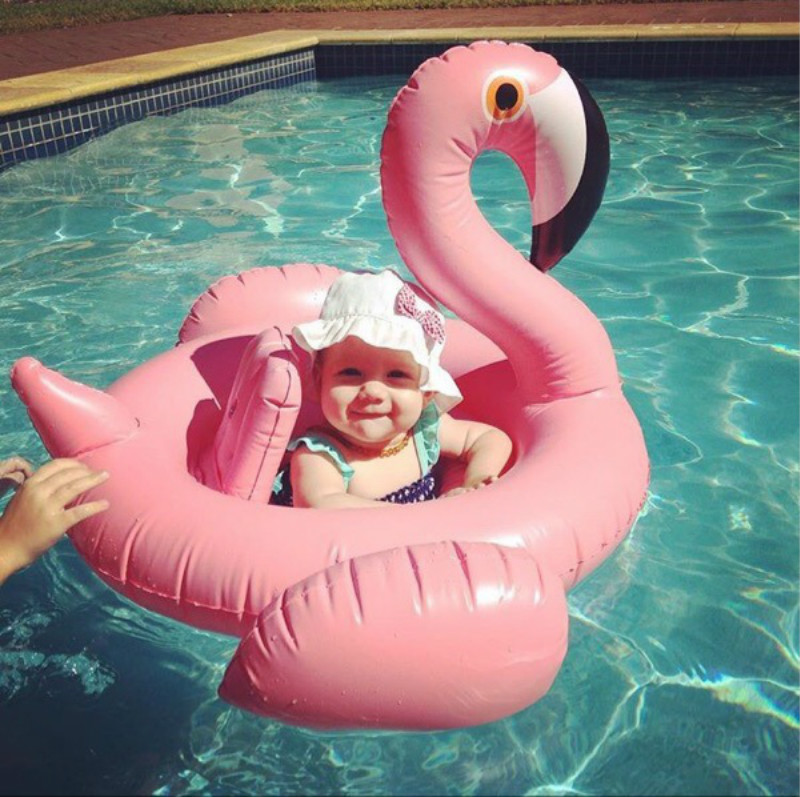 Inflatable Flamingo Pool Float Circle Mattress Swimming Swan Swim Ring Seat Boat Raft Su ...