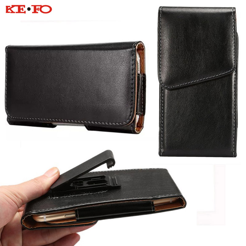 Belt Clip Holster Leather Mobile Phone Cases Pouch For Samsung galaxy S6 edge 5inch Universal For Smartphone Cell bags