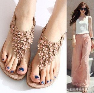 flat Women sandals fashion trend platform bohemia national heel beaded - Online Store 923589 store