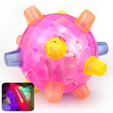 Baby Kids Jumping Bopper Flashing Light Up Bouncing Sound Educational Ball Toy