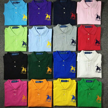 Top quality 2019 Fashion Summer mens short sleeve polos shirts cotton solid color horse mens lapel polos casual slim mens tops(China)