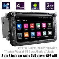 8 Cal Samochodowy Odtwarzacz DVD radio dla VW Golf mk6 5 Polo Jetta Tiguan Passat B6 5 cc skoda octavia 2 din Bluetooth