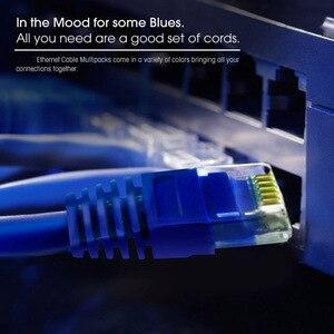 Image 3 - عالية الجودة 0.5FT 15 سنتيمتر 20 سنتيمتر UTP RJ45 8P8C كابلات إيثرنت مستديرة 24 AWG Cat5e شبكة الإنترنت التصحيح 350 ميجا هرتز LAN الحبل 5 قطعة/الوحدة