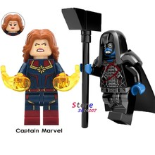 Single Infinity War Series Captain Marvel Ronan movie Spider Iron Man Captain America building blocks toys for children(China)