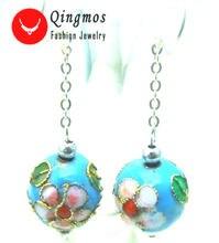 Qingmos модные серьги из перегородчатой эмали для женщин с 12