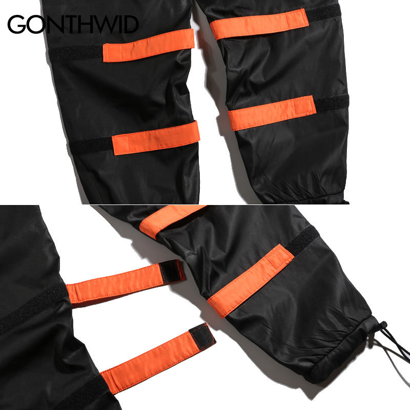 Gonthwid Men's Side Pockets Cargo Harem Pants Hip Hop Casual Male Tatical Joggers Trousers Fashion Casual Streetwear Pants #6