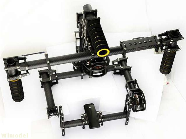 F07544 3K Carbon Fiber Aluminum 3 Axis Handle Stable Stabilization Brushless Gimbal With Motor BASECAM Controller JMT 3k carbon fiber brushless gimbal with controller motors full plug