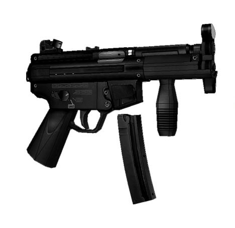 Paper Model 1: 1 Scale CS MP5K Submachine Gun Cosplay For Kids Adults Handmade Toy