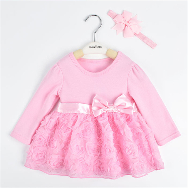 283b210a9c66 Cute baby rompers suit girls birthday clothes cotton sleeveless ...