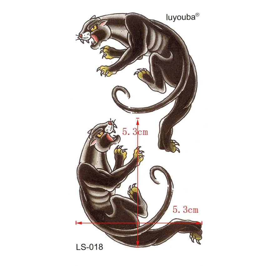 Ostro Panthers wodoodporne tymczasowe tatuaże mężczyźni uroda zwierząt harajuku tatuaż rękawy dzieci tatuaż złoto naklejki z tatuażami