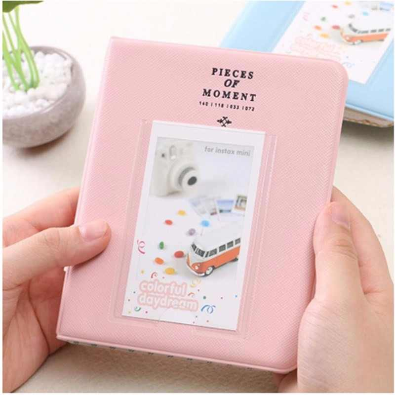 Polaroid Photo Album 64 Pockets Mini Instant Picture Case Storage For Fujifilm Instax Mini Film 8 Korea Instax Album Fotografia