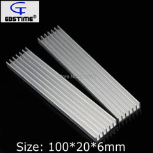 50 Pieces/lot 100x20x6mm DIY Extruded Radiator Hest Sink Heatsink For 1W 3W 5W LED электронные компоненты 1w 3w 24leds pcb diy 10
