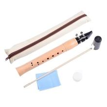 Maple Pocket Clarinet C Tone Practice Flute Chalumeau 12-2