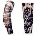 Велоспорт подогреватели татуировки рукавом Большой размер нейлон поддельные временные татуировки тела рука теплее для холодных людей-бесплатная женщин