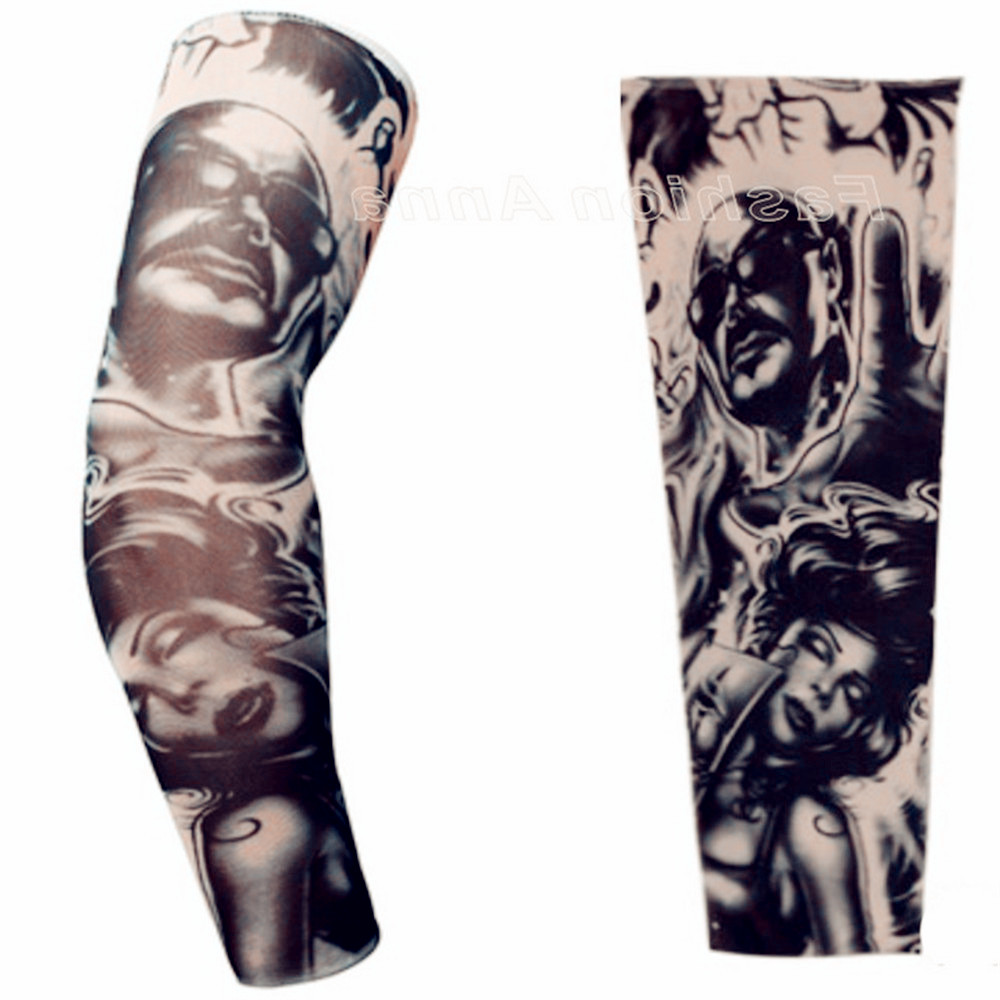 Sleeve Warmers Tattoo Sleeve Plus Size Nylon Fake Temporary Tattoos Sleeve Body Arm Warmer For Cool Men Women