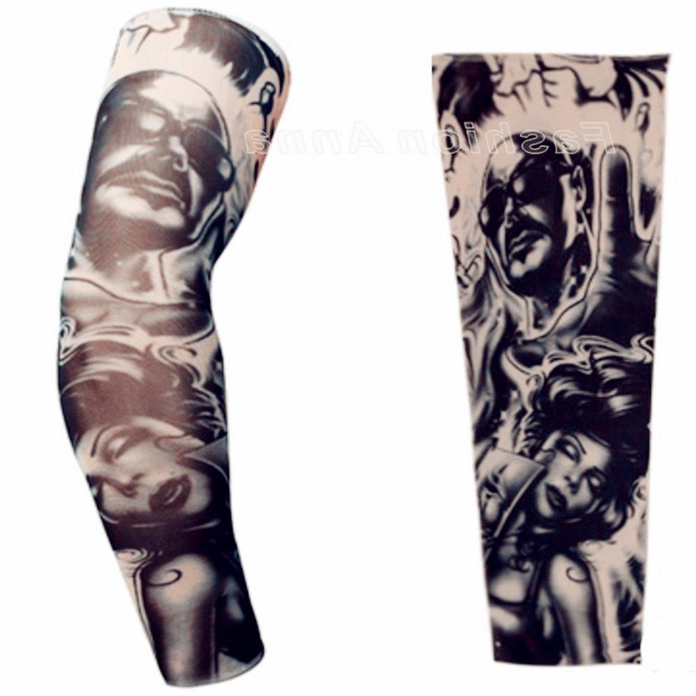 Sleeve Warmers Tattoo Sleeve Plus Size Nylon Fake Temporary Tattoos Sleeve Body Arm Warmer For Cool Men Women