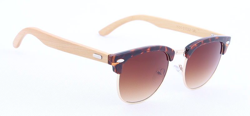 0600852f0ed Retro Wooden Sunglasses Glasses Male Half Plastic Metal Spectacle Gradient  Color Lens Vogue Eyewear Brand Men Sunglasses Glasses-in Sunglasses from  Apparel ...