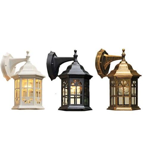 lampada de parede iluminacao a prova dwaterproof