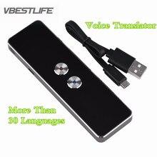 30 Multi-idioma Tradutor De Voz Inteligente Global De Viagens de Negócios Tradução Intérprete Do Bluetooth Sem Fio de Voz Digital