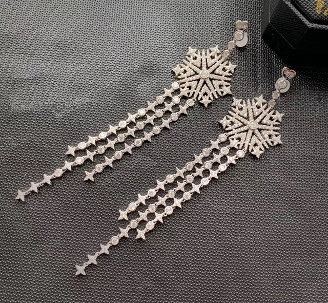 Designer Fashion 925 Sterling Silver Jewelry 3A Cubic Zirconia Party Earring