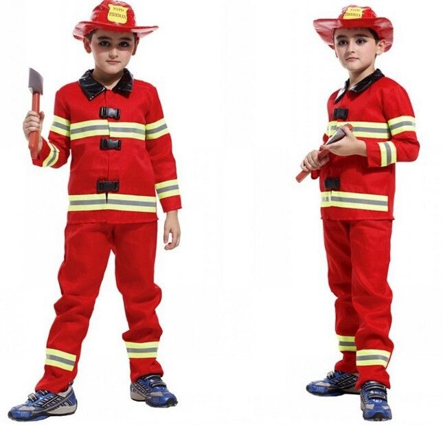 childrens firefighter halloween party fireman costume uniform cosplay kids giftchina mainland - Fireman Halloween