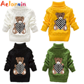 Aelorxin Baby Girls Boys Cartoon Sweaters Pullover Warm Outerwear Kids Turtleneck Sweater Autumn Winter Children Clothing 2016