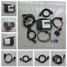 Super MB Star C5 SD Conenct diagnostic tool with wifi mb star c5 multiplexer with full set cables for benz car&truck