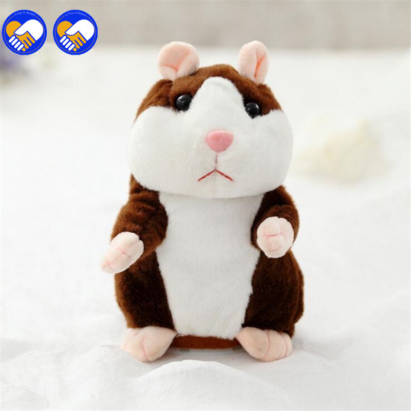 Talking Hamster Mouse Pet Plush Toys Hot Cute Speak Talking Sound Record Hamster Educational Toy for Kids Gift ZB-A47-49